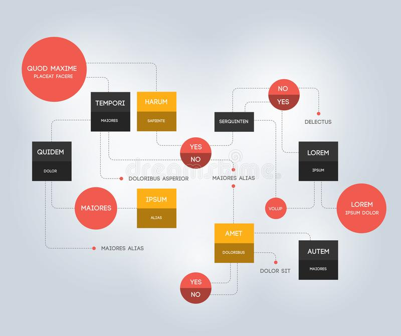 flowchart Szablon, plan, diagram, infographic royalty ilustracja