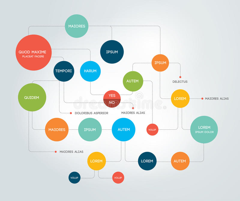 flowchart Szablon, plan, diagram lub infographic, royalty ilustracja