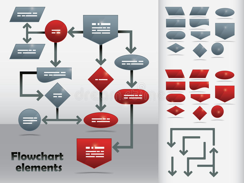Flowchart Template stock illustration
