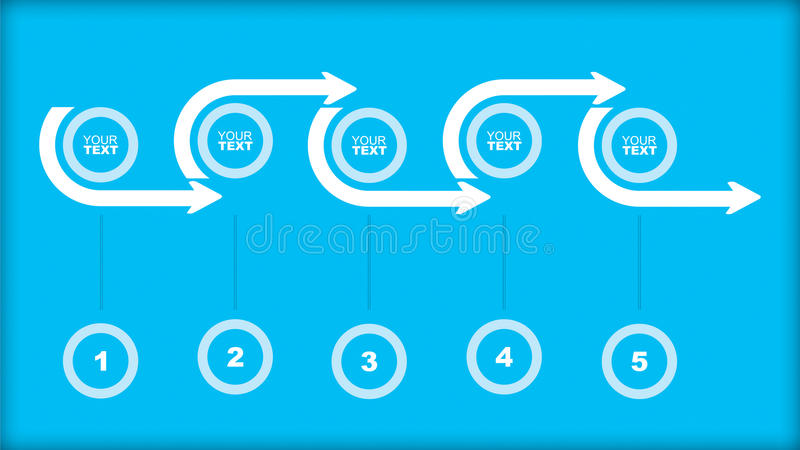 Flowchart template. Abstract illustration with copy paste area vector illustration