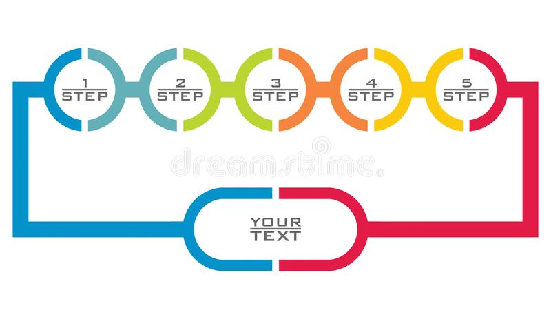 Flowchart template. Abstract illustration with copy paste area. For your presentation royalty free illustration