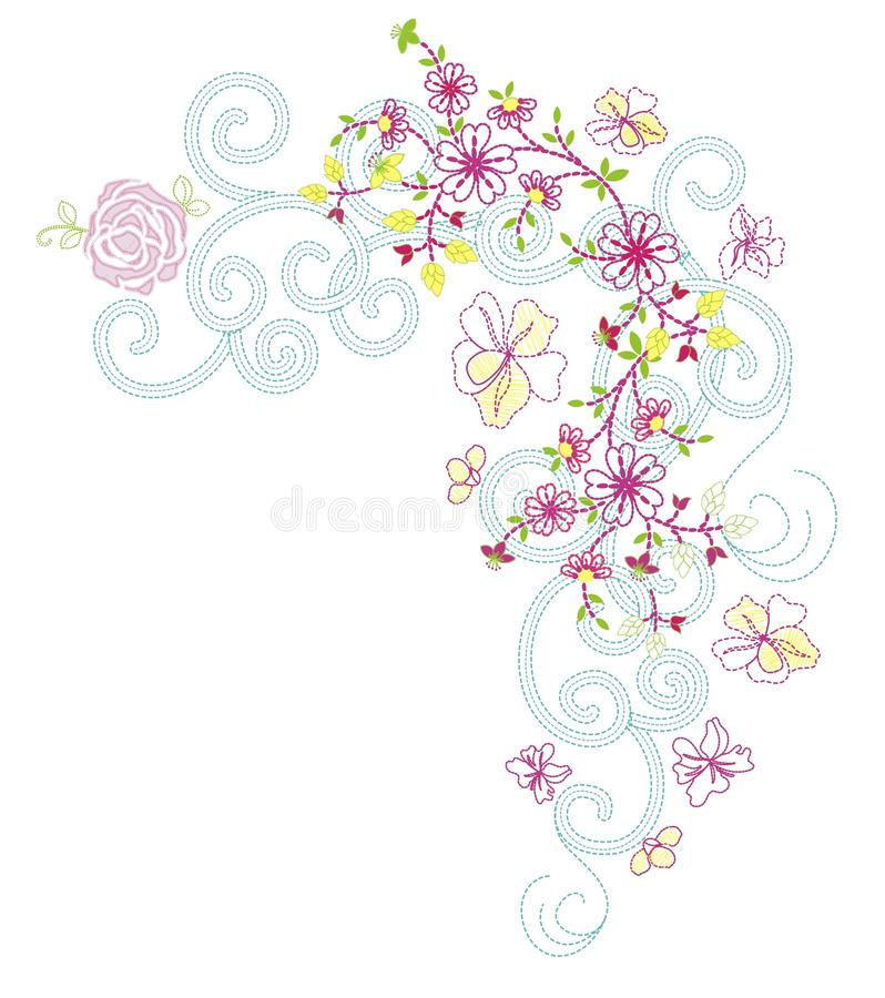 Flower 02 vector illustration