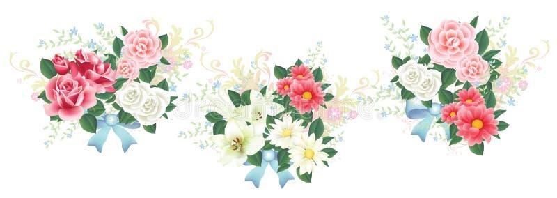 Flower-3 vektor illustrationer