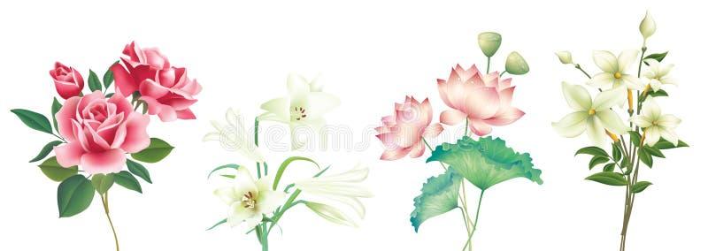 Flower-1 stock illustrationer