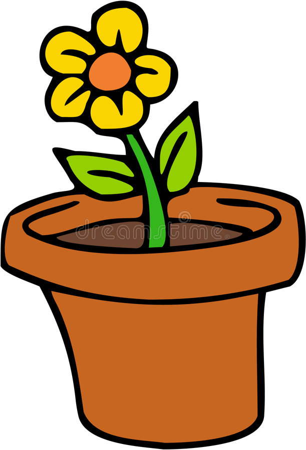 Download Flower stock illustration. Image of drawing, cartoon, artificial - 1423550