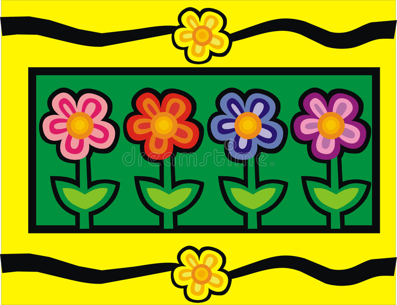 Flower. Illustration royalty free illustration