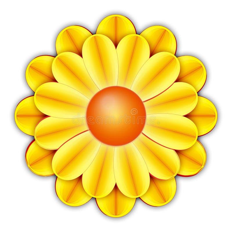 Download FLower stock illustration. Image of daisies, yellow, orange - 831988
