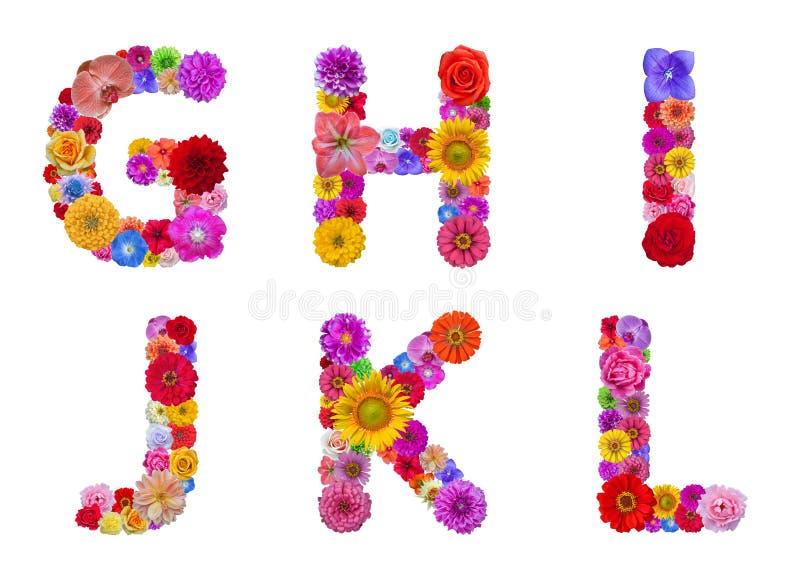 Flower alphabet royalty free stock images