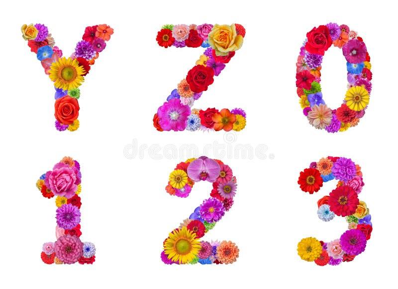 Flower alphabet stock photography