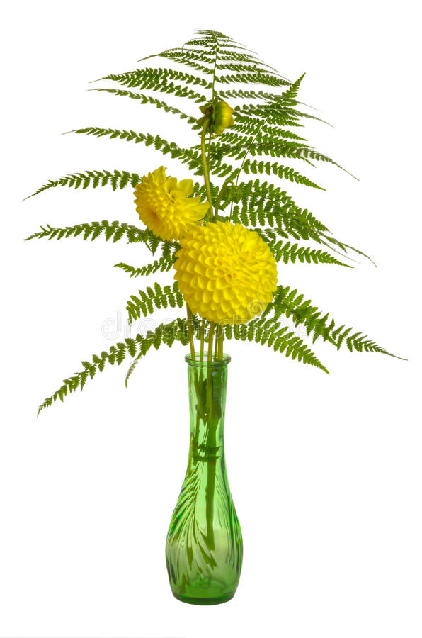 Download Flower Arrangement With Ferns And Chrysanthemums Stock Image - Image: 28022853