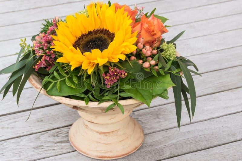 Flower arrangement in vase. royalty free stock images