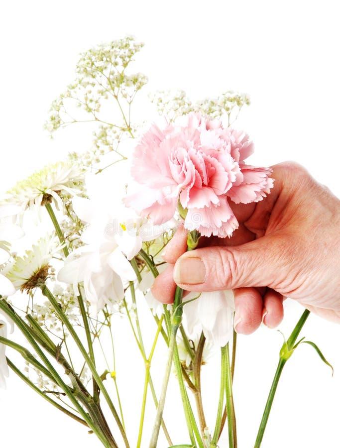Flower arranging stock photos