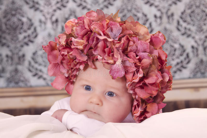 Download Flower baby stock photo. Image of portrait, child, cozy - 17917990