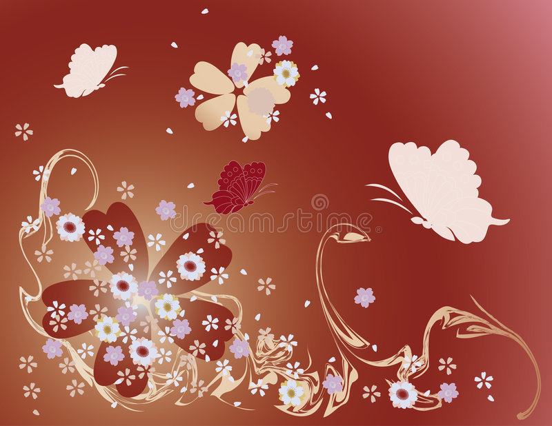 Download Flower background stock illustration. Image of flora, spring - 1424807