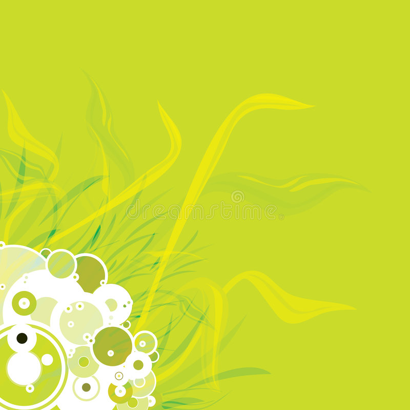 Flower background. An abstract background with a nature theme in green royalty free illustration