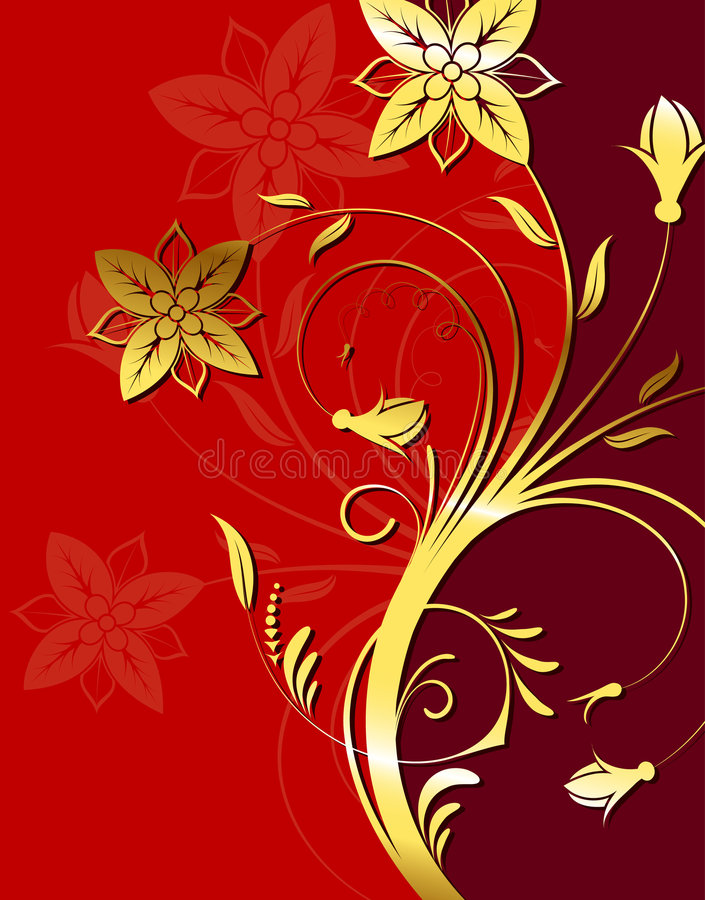 Flower background royalty free illustration