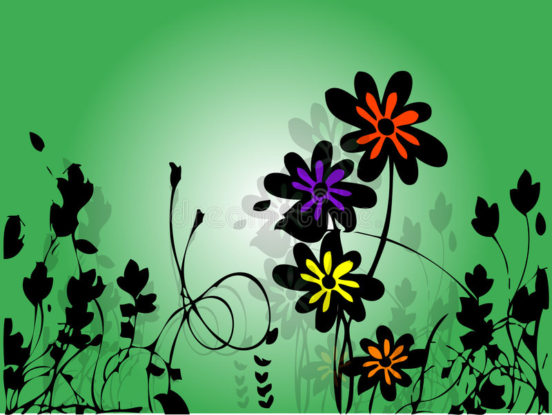 Download Flower Background stock vector. Image of curlicue, backdrop - 875774