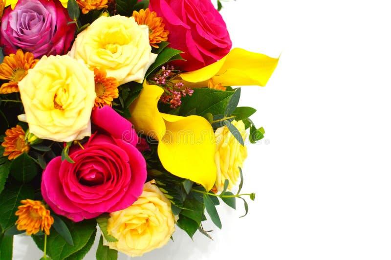 Beautiful bouquet of mix flowers stock photo