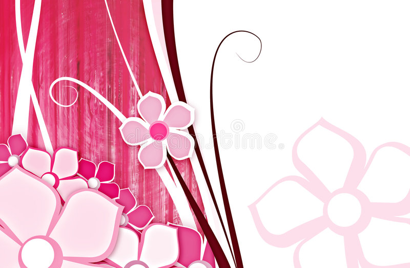 Flower for background pink stock photo