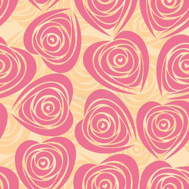 Flower background with rose like heart. stock illustration