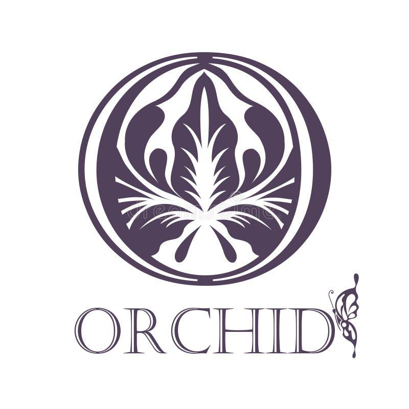 Flower Background Template. Lotus symbol. Logo royalty free illustration