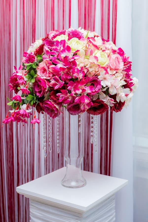 Wedding decor ball of flowers stock photography
