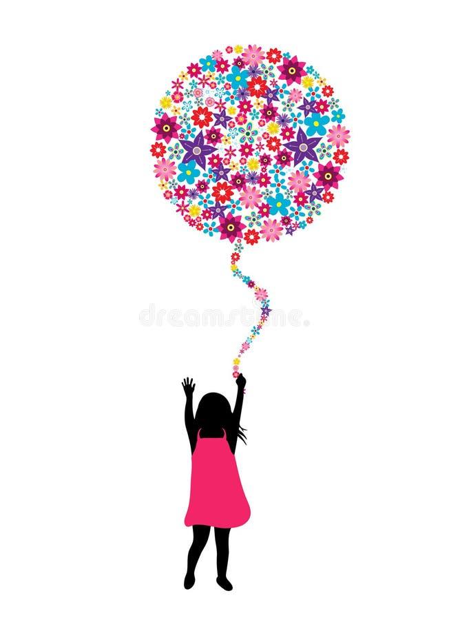 Flower balloon vector illustration
