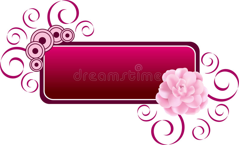 Flower Banner Royalty Free Stock Image