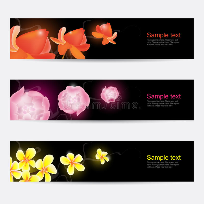 Flower banners royalty free illustration