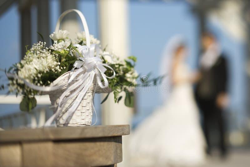 Flower basket royalty free stock photos
