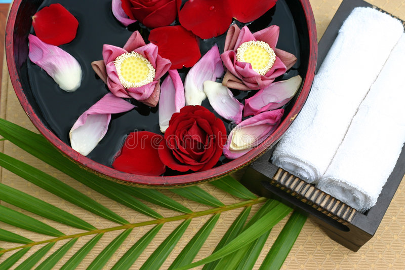 Flower bath stock photography