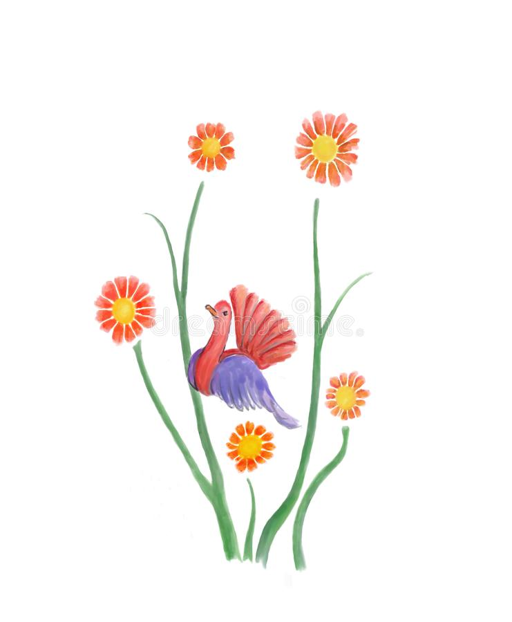 Download Flower Bird stock illustration. Illustration of pretty - 4388501