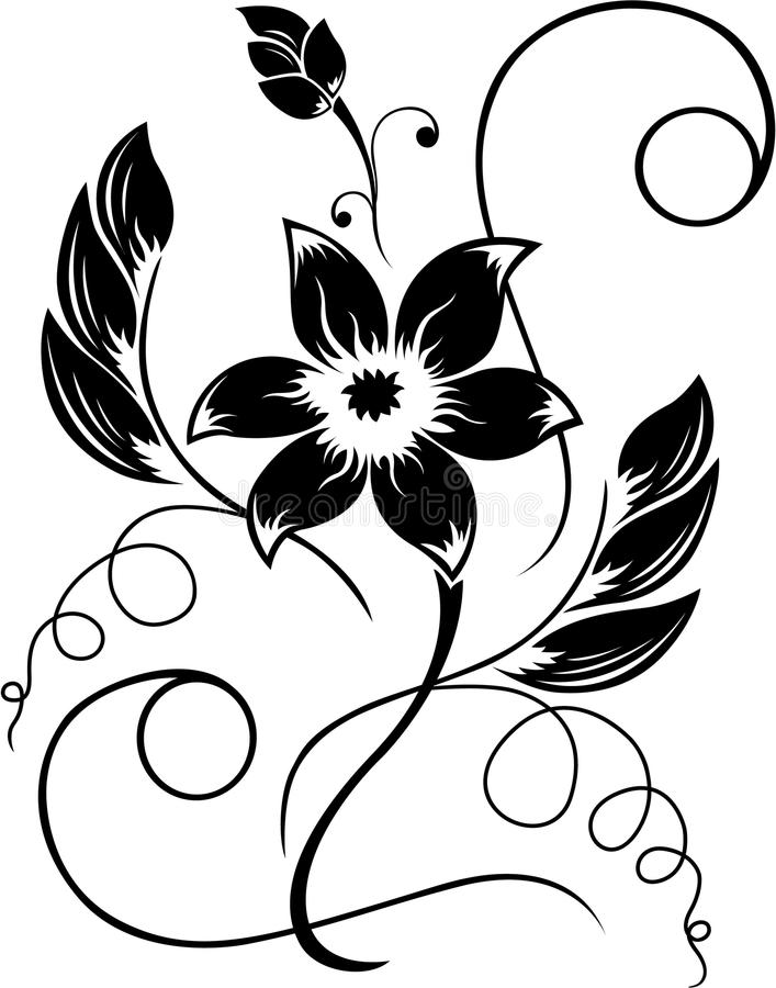 Flower black a white pattern stock vector illustration of elegance download flower black a white pattern stock vector illustration of elegance pattern 13614205 mightylinksfo