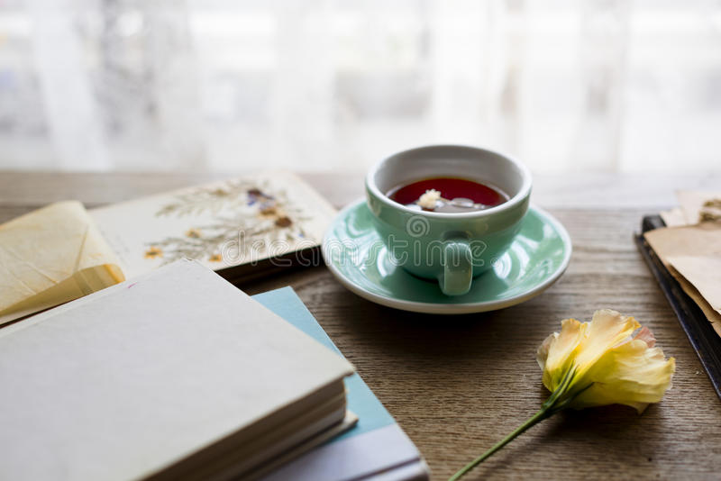 Flower Bloom Relaxation Tea Cup Peaceful royalty free stock images