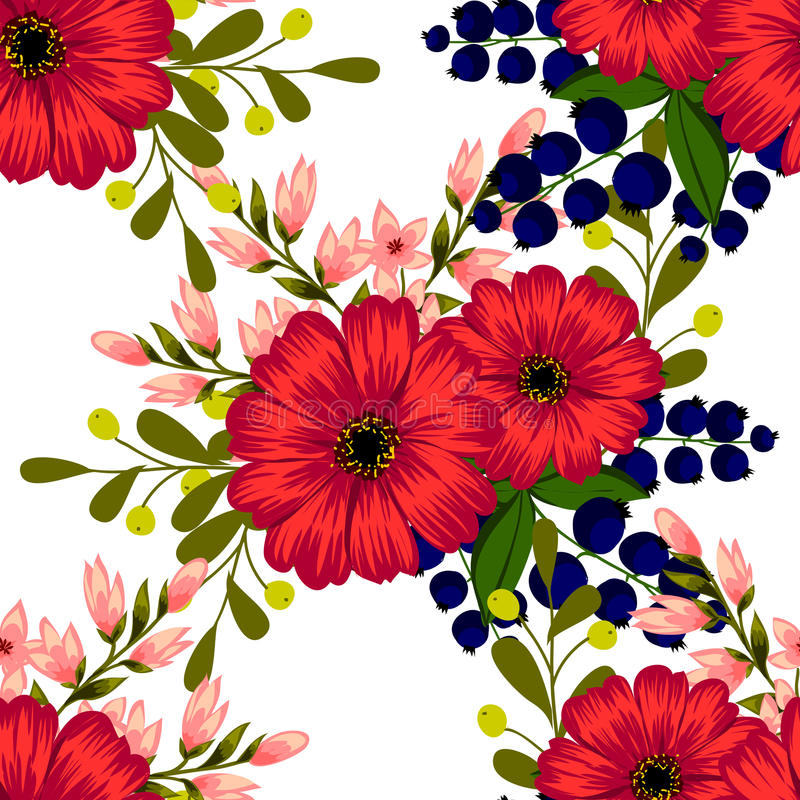 Flower blossom. Abstract elegance seamless pattern royalty free illustration