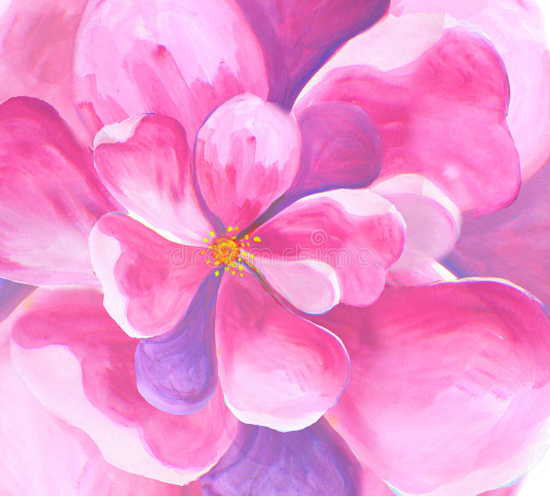 Free Flower Blossom Primrose Anemone Oil Painting Watercolor Seamless Wallpaper Stock Photography - 52834232