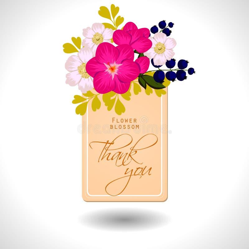 Flower blossom. Romantic botanical invitation. Flower blossom. Abstract flower background with place for your text stock illustration
