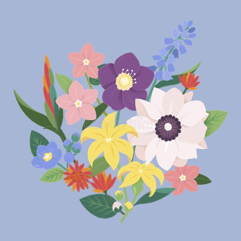 Flower Blossom Vintage Ornate Collection. Flower Blossom Vintage Collection Concept vector illustration