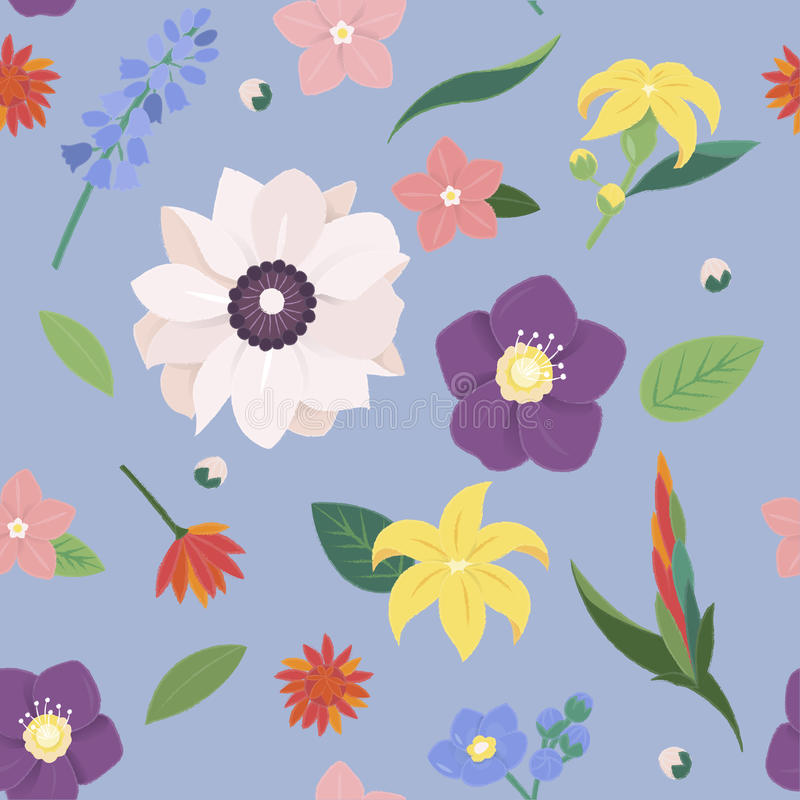 Flower Blossom Vintage Ornate Collection. Flower Blossom Vintage Collection Concept stock illustration