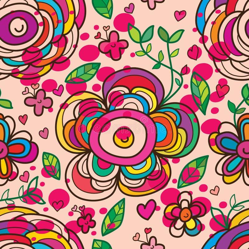 Flower blow circle seamless pattern vector illustration