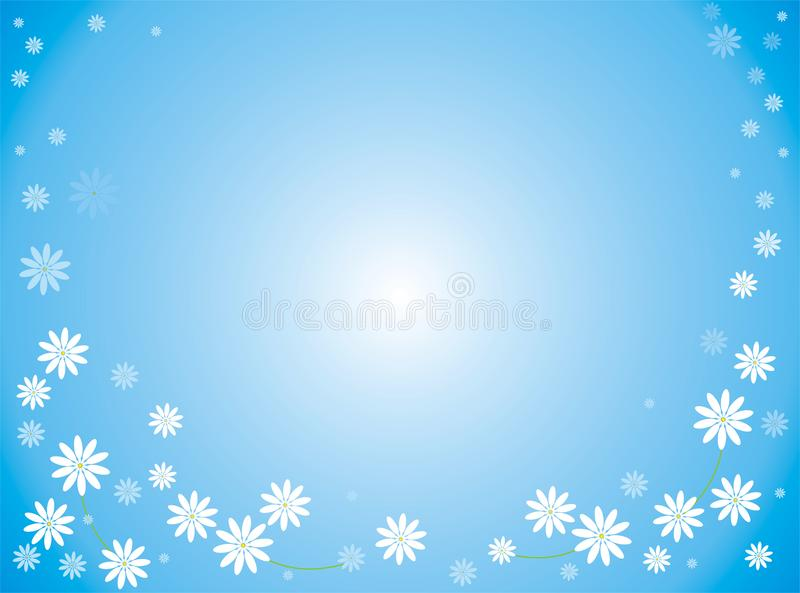 The Flower Of The Blue Background Stock Image