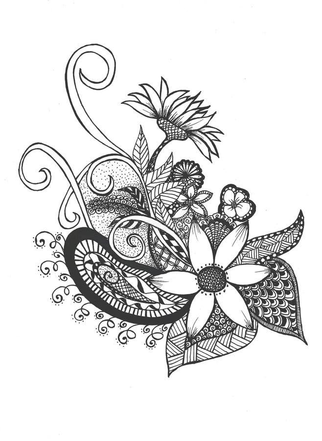 Flower bonsai stock illustration
