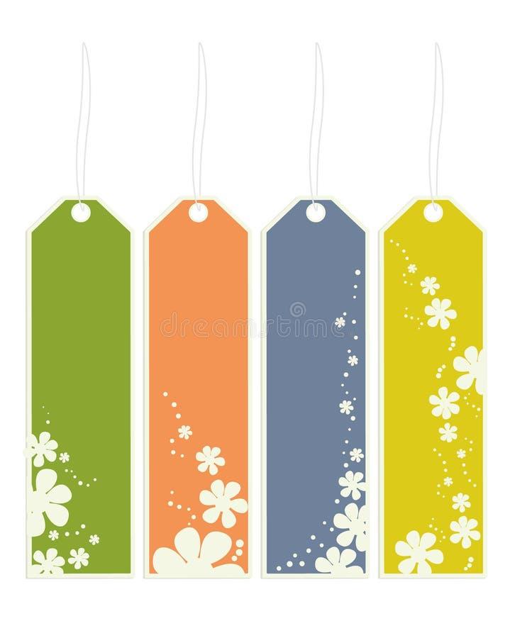Flower bookmarks royalty free illustration