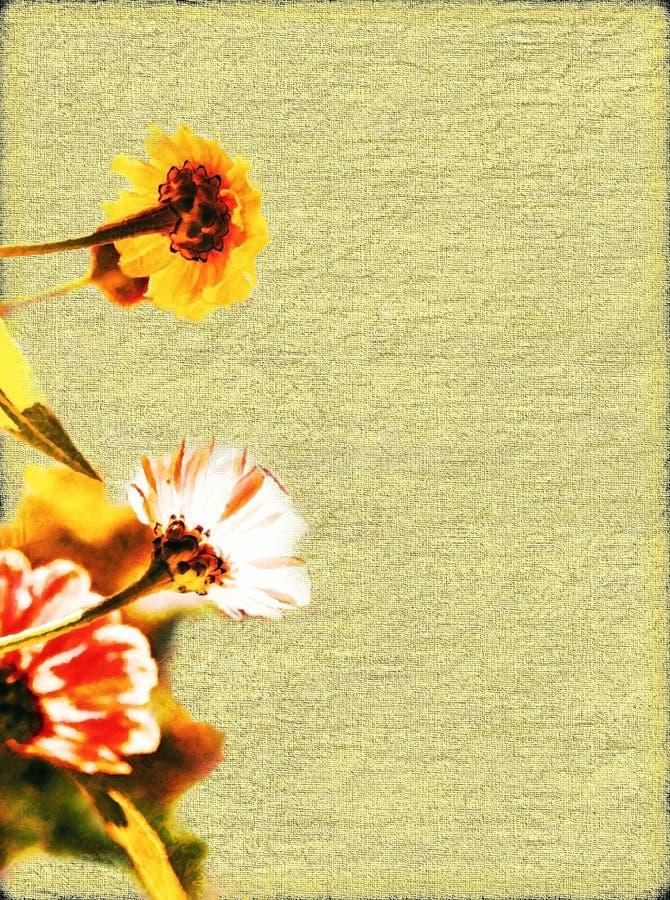 Flower Border / Paper royalty free stock image