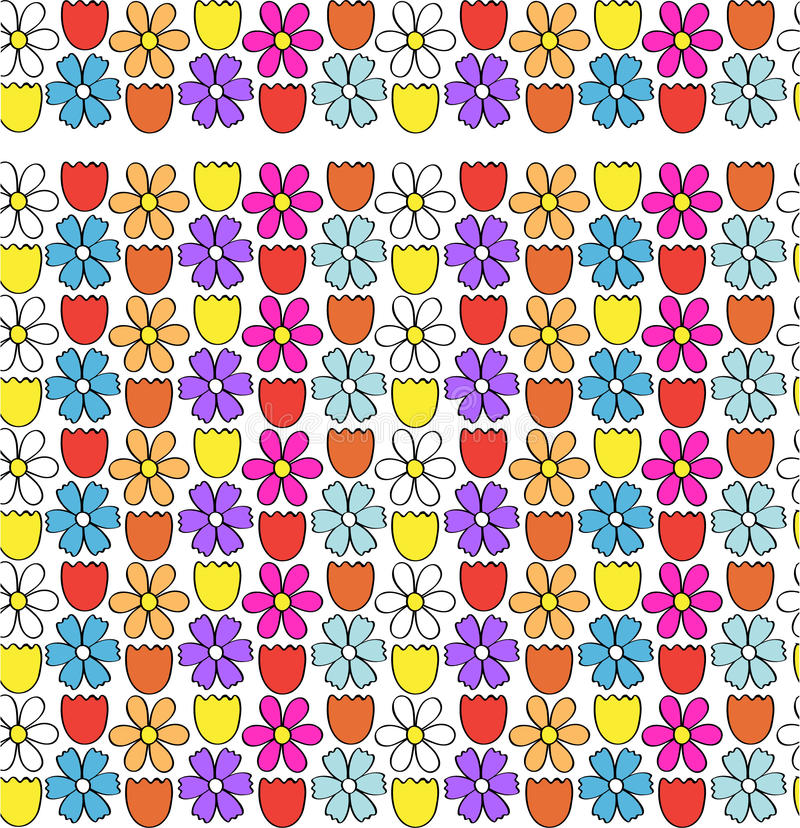 Download Flower Border / Seamless Pattern Stock Illustration - Image: 15172414