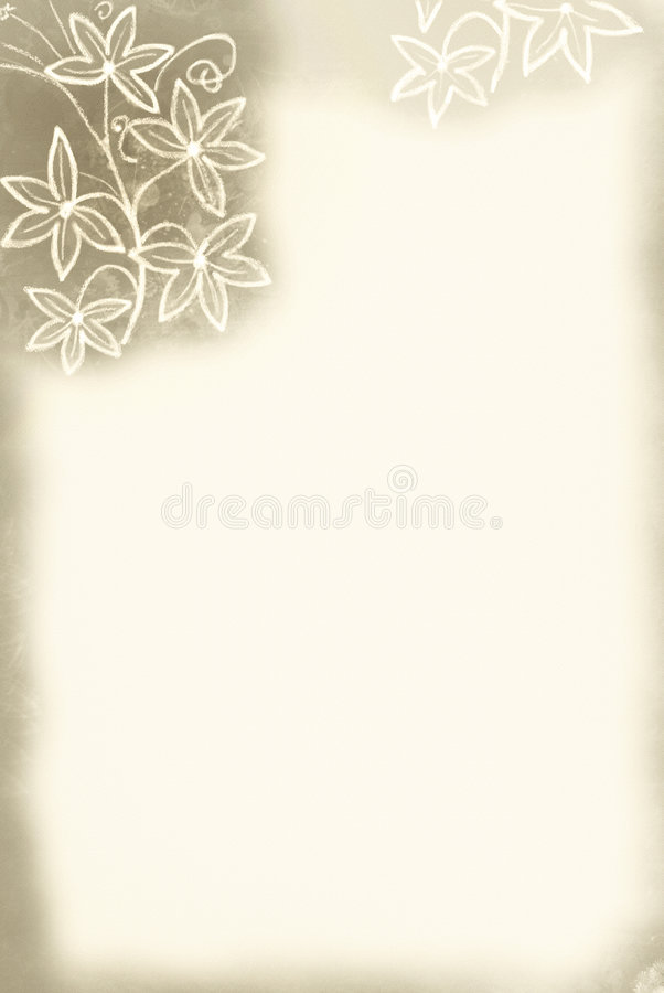Flower Border / Sepia Tint vector illustration