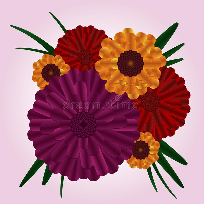 Download Flower Bouquet stock vector. Image of corsage, pink, illustration - 17706184