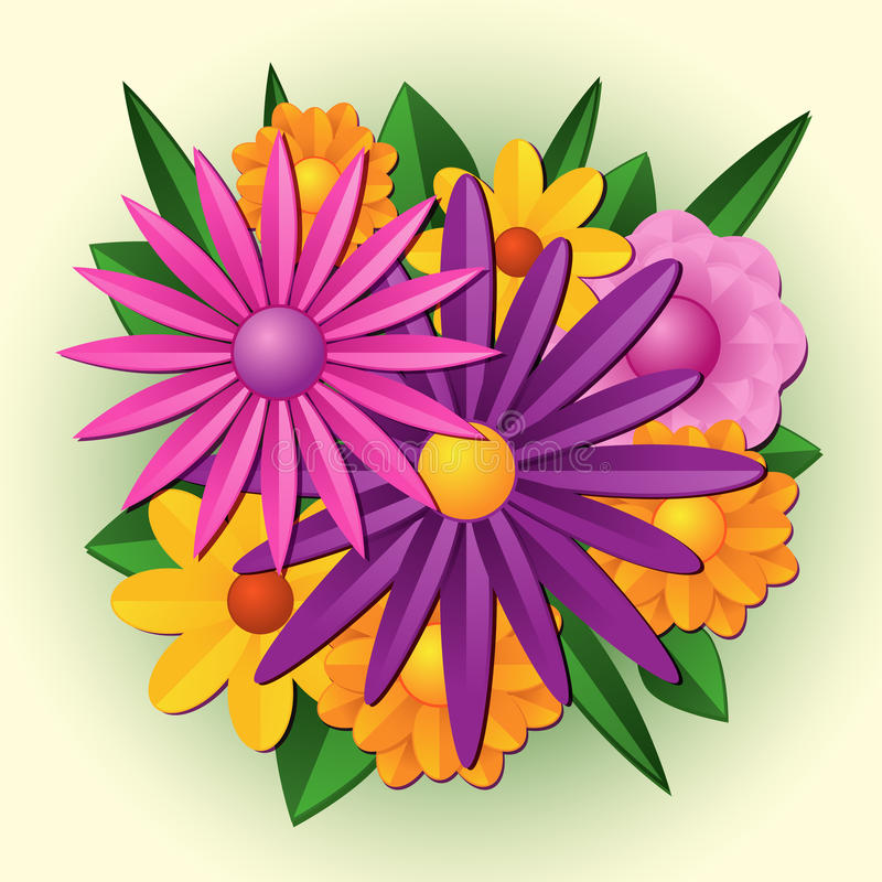 Download Flower bouquet stock vector. Image of flower, purple - 19266975