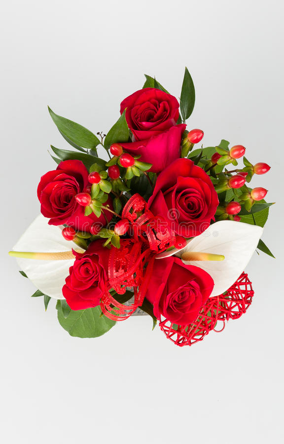 Free Flower Bouquet And Calla Arrangement Stock Images - 51449074