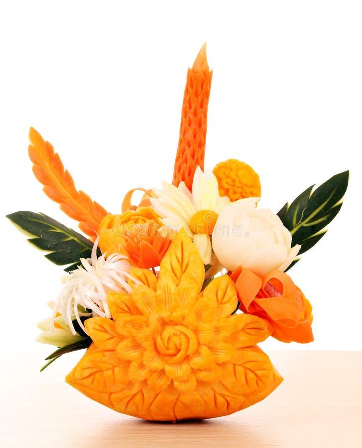 Flower bouquet decorated salad. Flower bouquet vegetables decorated salad stock image